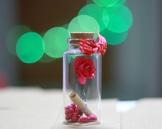 AtneP Rose Message Bottle